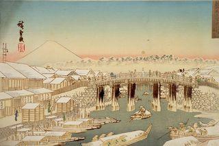 X広重_日本橋雪のあけぼの(魚河岸対岸)