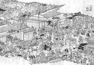 雪旦_江戸名所図会_日本橋魚市